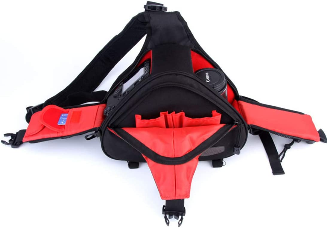 Color : Standard Black Hexiaoyi New Digital Camera Bag Diagonal Cross-Shoulder Cover One Shoulder Camera Bag SLR Camera Bag