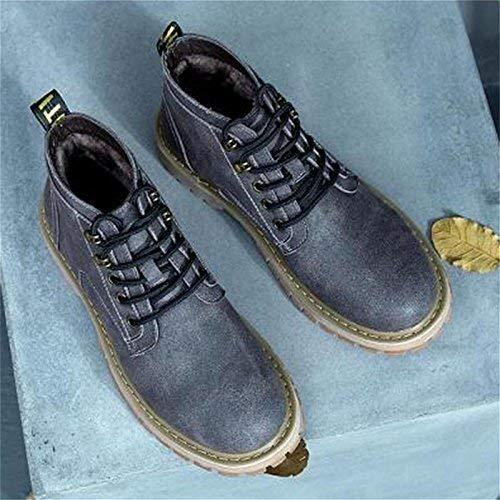 HhGold Winter Plus Fett XL männlich Kunstleder Stiefel Reißverschluss Schuhe (Farbe   45, Größe   Schwarz)  | Öffnen Sie das Interesse und die Innovation Ihres Kindes, aber auch die Unschuld von Kindern, kindlich, glücklich  | Angem