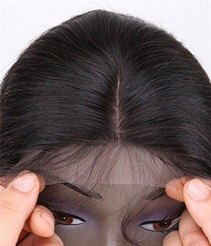 Uniwigs 5''x5'' Straight Brazilian Remy Human Hair Silk Top Lace Closure (14 inch, Free Part)