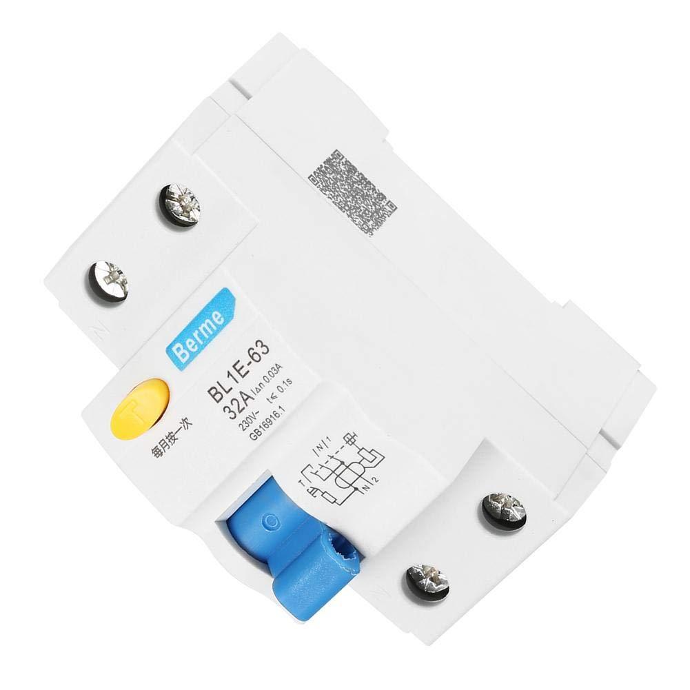 Ingenieurbau N RCCB f/ür Heimtextilien l/ändliches Netzwerk Transformation Fehlerstromschutzschalter 230V 30mA BL1E-63 32A 1P