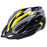 SODIAL(R) Road Bike Racing Bicycle Cycling Helmet Visor Adjustable Carbon Yellow