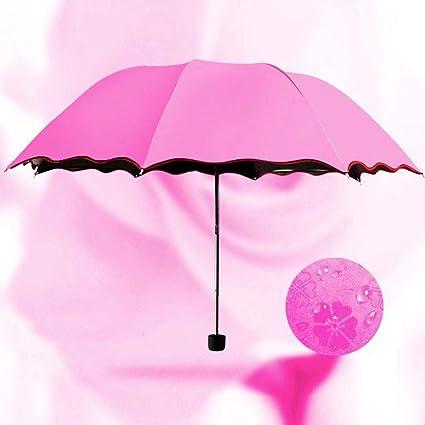 SYT Umbrellas Plegable, Cambio de Color Paraguas, protección Solar, Paraguas, Protector Solar