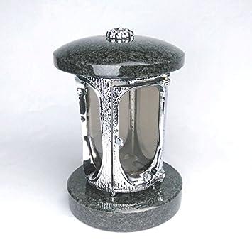 designgrab aluminio Grab lámpara cromo de aluminio y granito Nero Impala/Astor/África Negro