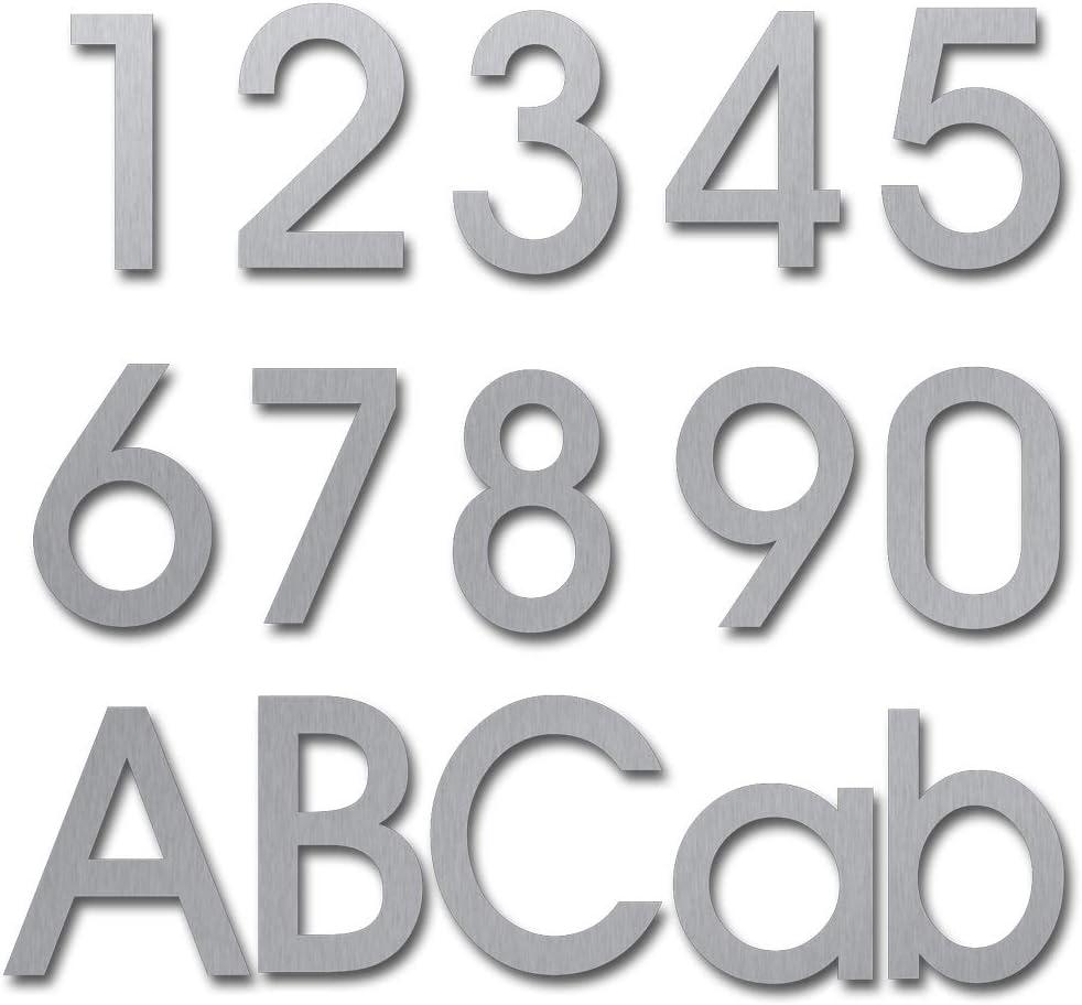 nanly Moderne Hausnummer aus massivem hergestellt 304-GRO/ß 15.3 Zentimeter //6 Zoll Einfache Installation(Ziffer 2) Schwimmendes Aussehen Geb/ürsteter Edelstahl