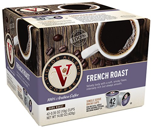 Victor Allen Coffee, French Roast, 0.35 oz, 42 Count (Compatible with 2.0 Keurig - Ny In Stores Victor