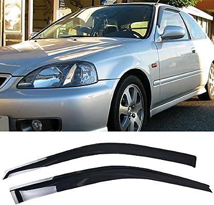 Amazon.com  Window Visor Fits 1996-2000 Honda Civic 3Dr Hatchback ... cc00ab8a274