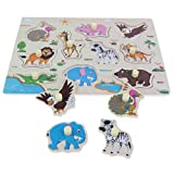 Baoblaze Wooden Peg Puzzle Jigsaw Educational Toys for 1-4 Year Olds Baby Toddlers