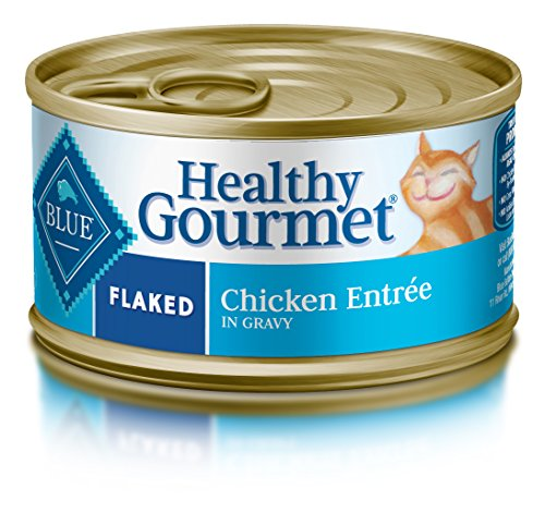 BLUE Healthy Gourmet Adult Flaked Chicken Wet Cat Food 5.5-oz (Pack of 24)