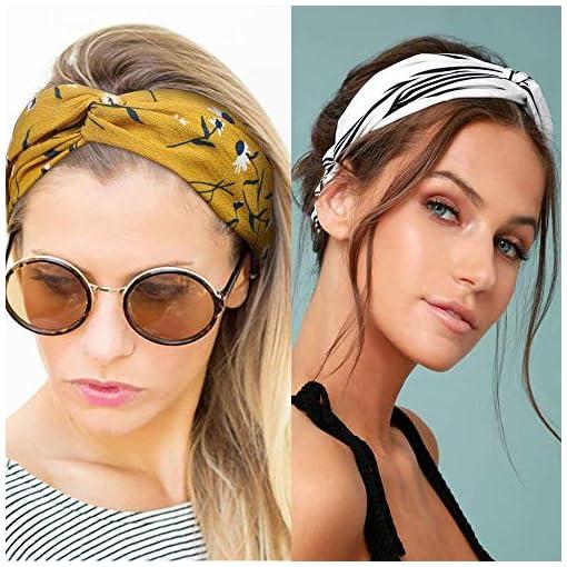 Retro Mujeres Boho estilos Headwear Diademas Cruz Bandana Pelo Decoración N7