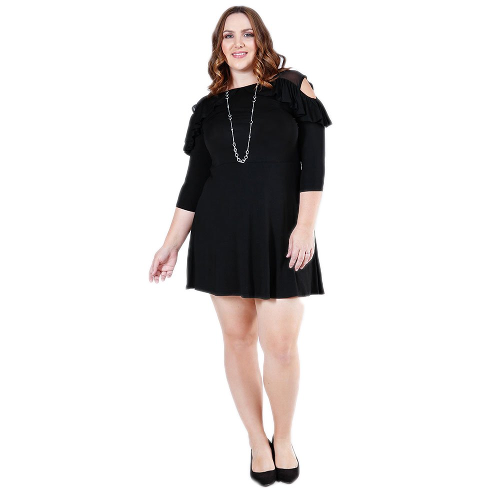 1e47a4975f5b The Perfect Plus Size Black Dress for Women: the classic black dress in  plus size by Verona Couture is a modern spin on classic styles.