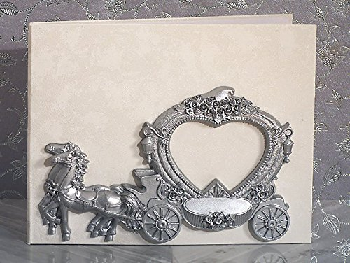 Elegant silver Wedding Coach Guest book