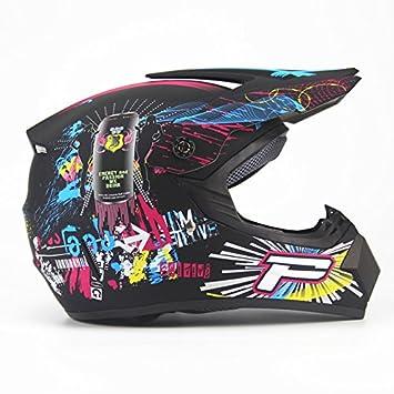 WLT Casco de seguridad para adulto de motocicleta casco de montaña casco de seguridad, S