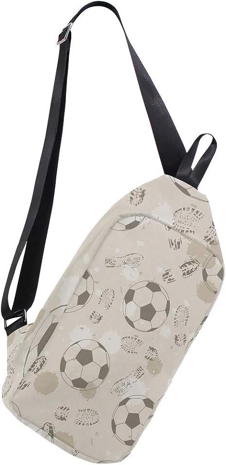 EZIOLY - Mochila de Hombro con diseño de Huella y balón de fútbol ...