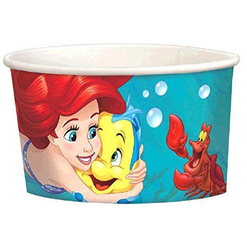 [Amscan Enchanting Disney Ariel Dream Big Birthday Treat Cups Party Favor, Green/Blue, 9.5 oz] (Disney Little Mermaid Flounder Costume)