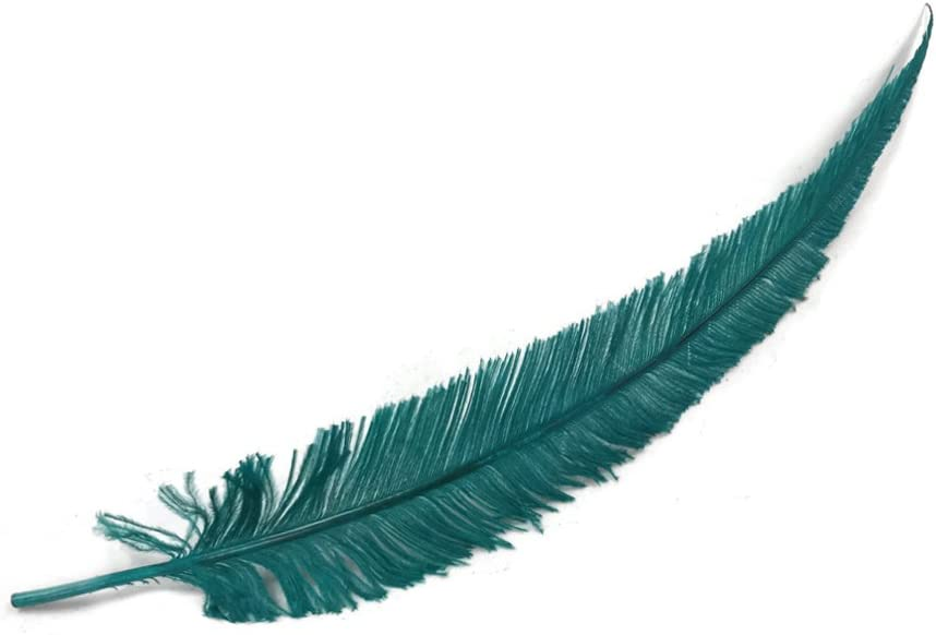 Claro de Luna de plumas | 5 piezas – azul avestruz Nandu Trimmed ...