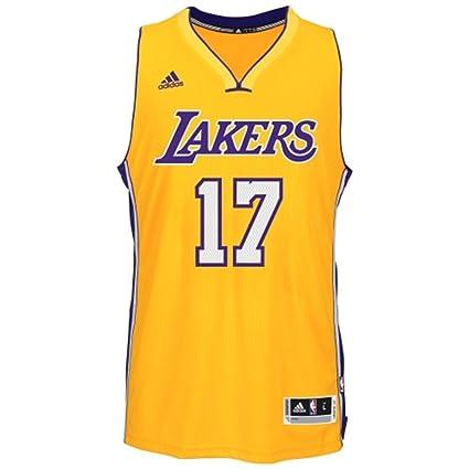 a7085fb1990 Amazon.com : adidas Los Angeles Lakers Men's Jeremy Lin #17 NBA ...