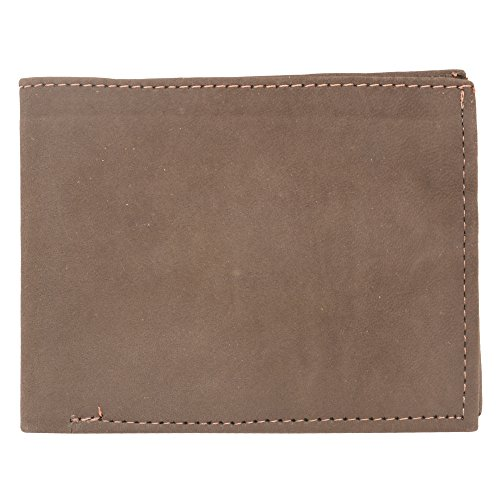 Safco 8 Compartment Mesh (Handcraft Men's Genuine Soft Gripped Leather Dark Brown Single Fold Wallet 5 Inch)