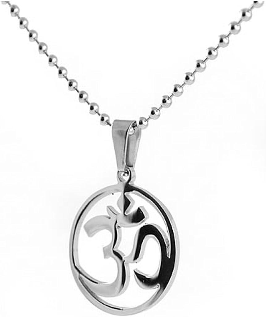 Ohm Necklace Om Peace Yoga Buddha Religious Charm Jewelry
