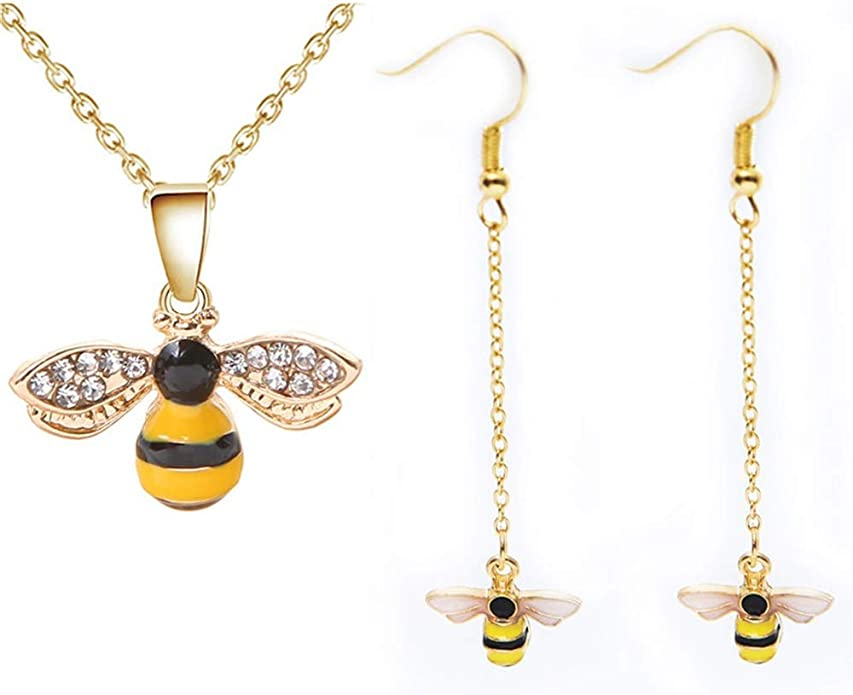 Bumble Bee Necklace Minimal Charm Necklace Save the Bees Gift Gold Bee Charm Necklace Queen Bee Jewelry Teacher Appreciation Gift