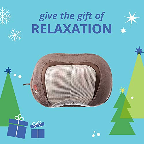 3D Shiatsu and Vibration Massage Pillow with Heat, Full-Body Relaxation Targets Upper and Lower Back, Neck, and…