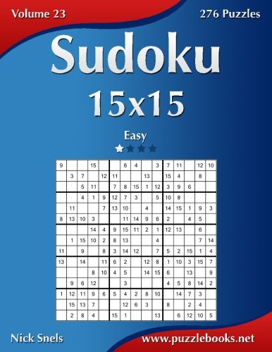 Download Sudoku 15x15 - Easy - Volume 23 - 276 Puzzles pdf