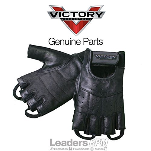 Victory Motorcycle New OEM Men's Leather Fingerless Riding Gloves, XL, 286323109