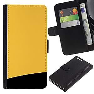 Stuss Case / Funda Carcasa PU de Cuero - Amarillo y Negro - Apple Iphone 6 PLUS 5.5