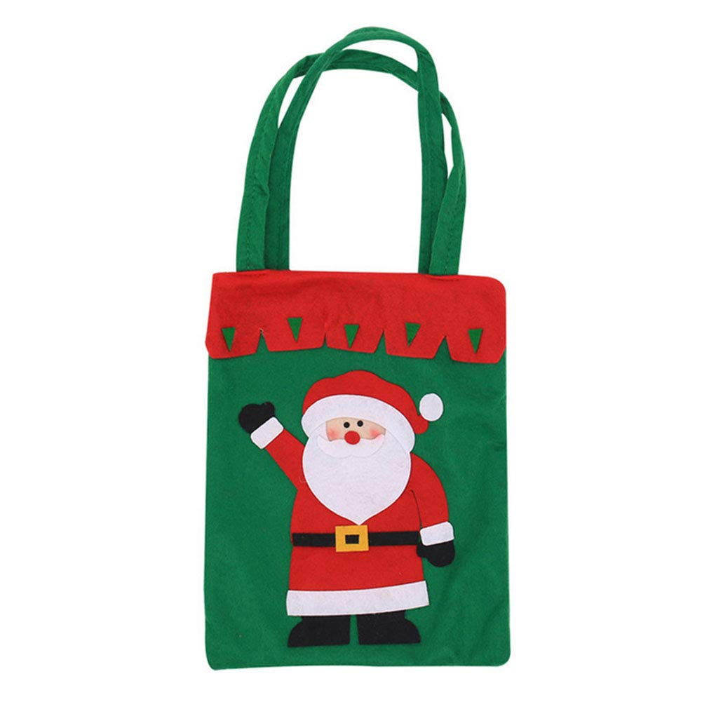 YaptheS Christmas Candy Bags Small Handbag Gift Treat Goodie Tote Bag for Kids Children Home Decorations Shopping (Santa Claus) Christmas Gift