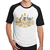 Coat of Arms of Australia Mens Hip Hop Cotton 3D Print Short Sleeve T-Shirts