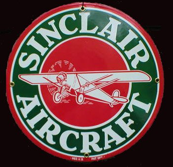 Sinclair Aircraft Porcelain Sign