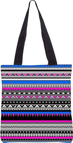 Snoogg AZTEC digitales Muster 13.5 x 15 Zoll-Shopping-Dienstprogramm-Einkaufstasche aus Polyester-Segeltuch gemacht