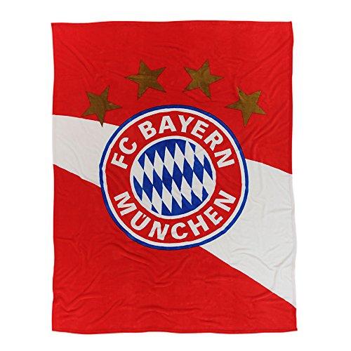 FC Bayern München Fleecedecke rot/weiss Kuscheldecke 21715 FCB