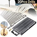 DRILLPRO 21PCS Pin Vise Twist Drill Bit Set
