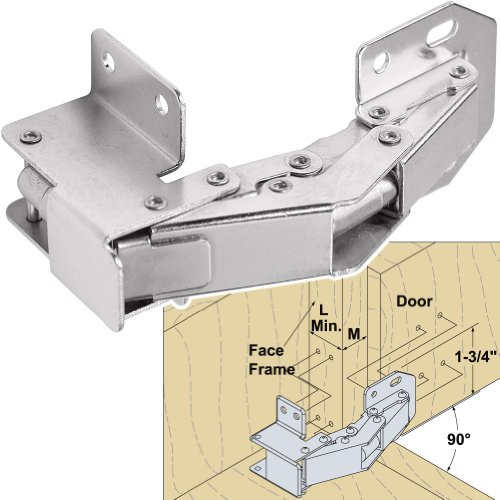 Platte River 942498, Hardware, Hinges, Cabinet, Face Mount Hinge For 3/4