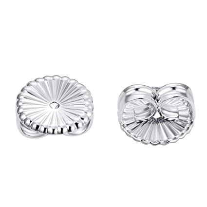a336e25a5 Image Unavailable. Image not available for. Color: BENECREAT 3 Pairs 925  Sterling Silver Replacement Earring Backs Stopper Flower Earring Stud ...