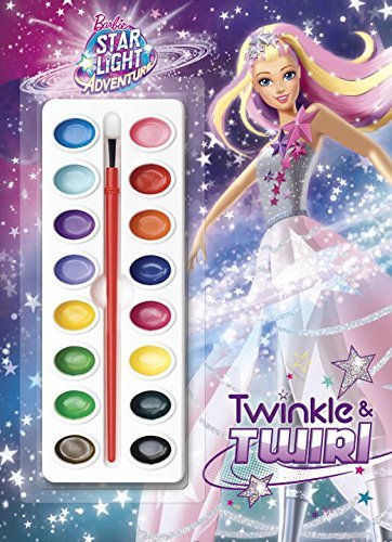 Twinkle amp Twirl Barbie Star Light Adventure Deluxe Paint Box Book by Golden Books 20160719