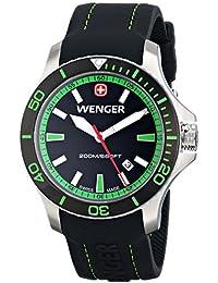 Men's 01.0641.108 Sea Force 3H Analog Display Swiss Quartz Black Watch