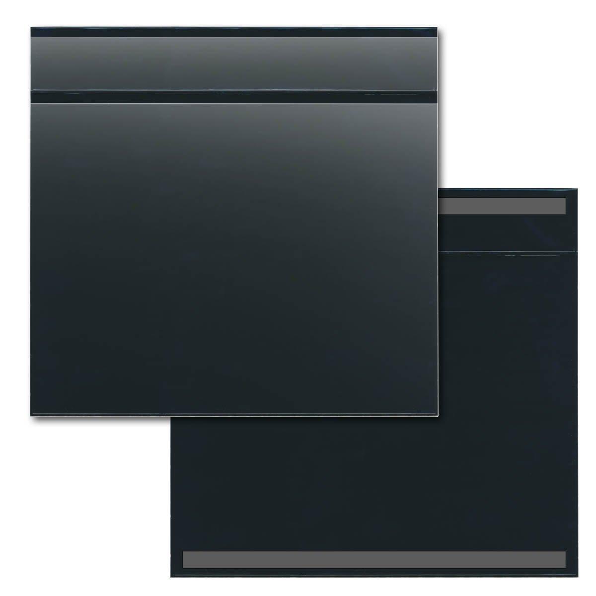 STORE SMART - 25-Pack Black Document Holder with Title Pocket - Horizontal - R529PQBKM-25
