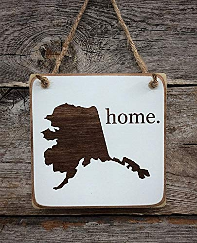 Igloo Wood - Alaska Home Ornament - Alaska Decor - Alaska Gift (small keepsake 4 inches by 4 inches in size)