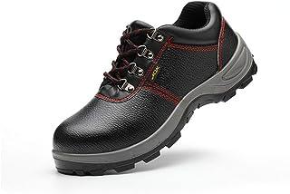 kunfang Chaussures De Sécurité Adultes en Acier Toe Cap Chaussures De Travail Bottes Imperméables Hommes Bottes Antidérapantes La Marche Randonnée Camping en Plein Air Conduite