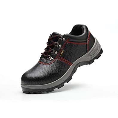 Zapatillas de Seguridad para Hombre, Ligeras Comodas Antideslizante Calzado de Trabajo Protegidos con Puntera de Acero Hombres Cuatro Colores Tamaño 36-46: ...