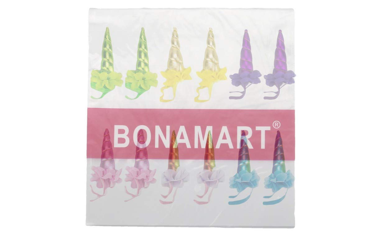 BONAMART Licorne Corne Bandeau Cheveux pour Party Cosplay Costume Fille 6 Pack D/éguisement Enfant Femme Tout Pour La Fete