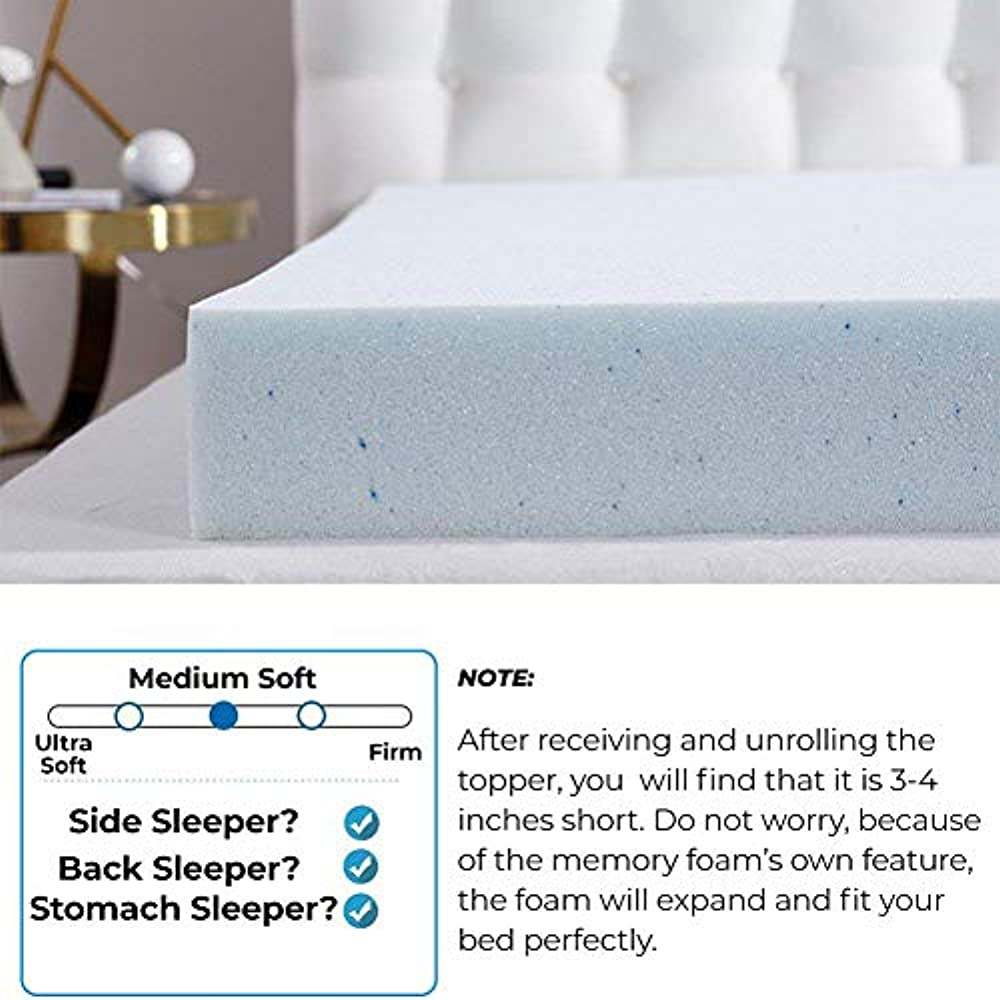 10LB Full 2 in Save $300 memory foam mattress topper