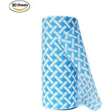 JEBBLAS Disposable Cleaning Towels Dish Towels and Dish Cloths Reusable Towels,Thick Handy Cleaning Wipes 90 Count/Roll,Blue