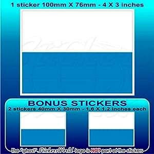 "San Marino bandera Civil sammarinese 4""(100mm) Bumper de vinilo adhesivo, adhesivo x1+ 2Bonus"