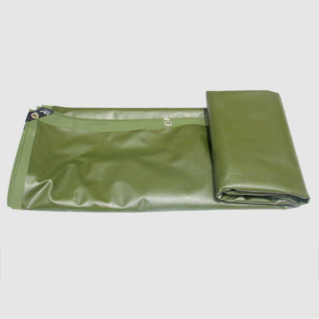 Green 35 m 118197 inch Awnings Rain Cloth Car rain Cloth Tarpaulin Waterproof Sun Predection Thicken WearResistant Canvas Truck Shade Cloth (color   Green, Size   3  5 m 118  197 inch)