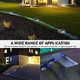16-Pack Solar Dock Lights Bright Blue JACKYLED