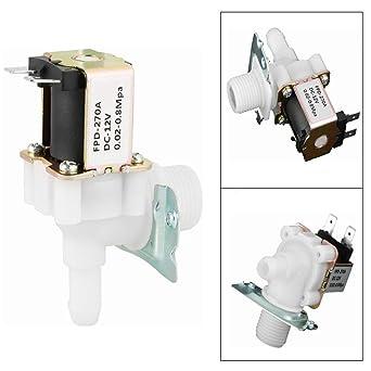 V/álvula solenoide de CC de 12 V v/álvula electromagn/ética de interruptor de flujo de entrada de agua de interruptor electromagn/ético normalmente cerrada de 12 mm