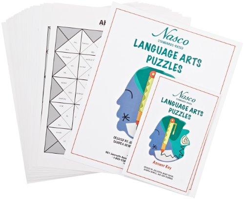 Nasco Standards-Based Language Arts Puzzles Set, Grades 3 - 8 (Set of 20)
