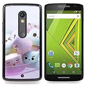 - Cute Marshmellow Friends/ Hard Snap On Cell Phone Case Cover - Cao - For Motorola Verizon DROID MAXX 2 / Moto X Play